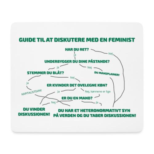 Guide til at diskutere med en feminist - Mousepad (bredformat)