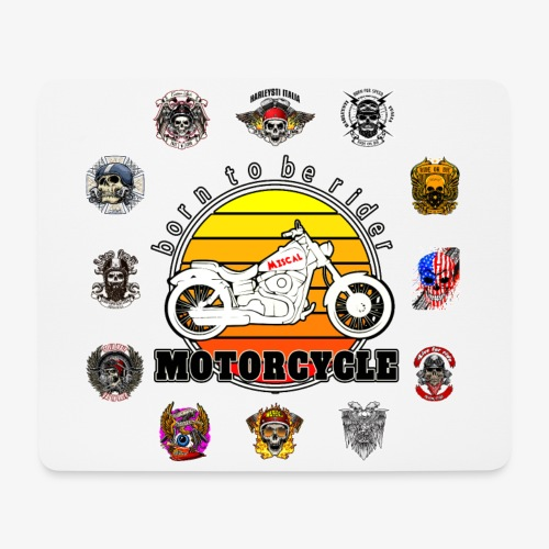 Born to be Rider - Motorcycle - Collection - Tappetino per mouse (orizzontale)