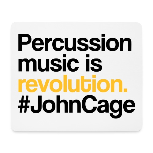 John Cage - Percussion Music (Schlagzeug Motiv) - Mousepad (Querformat)