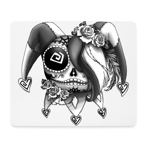 La Catrina Bajorette - Black & White - Mousepad (Querformat)