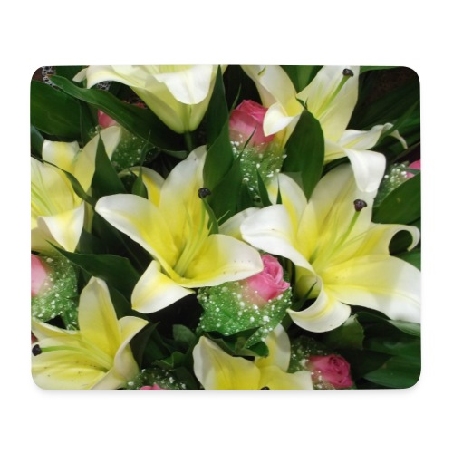daffodil and rose - Mouse Pad (horizontal)