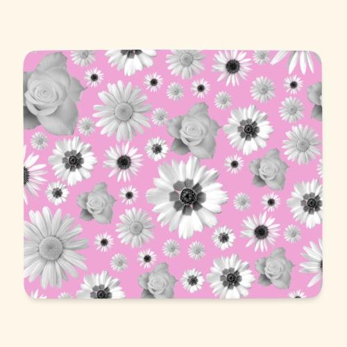 Blumen, Blume, Blüten, floral, Blumenranke, pink - Mousepad (Querformat)