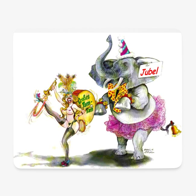 Mousepad mit Cartoon