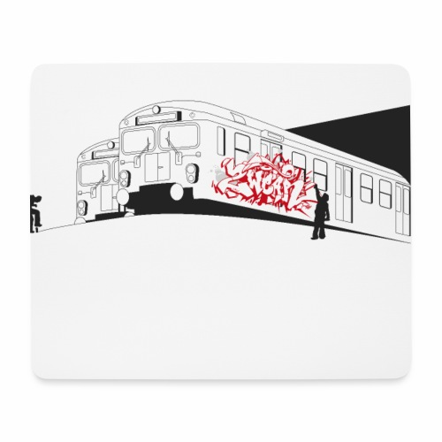 Throw up - 2wear graffiti trains ver02-1 - Mousepad (bredformat)