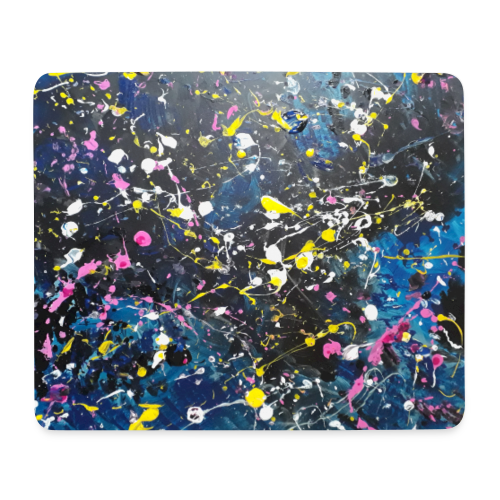 Mouse mat gaming, Brush Strokes and Moon Folks - Mouse Pad (horizontal)