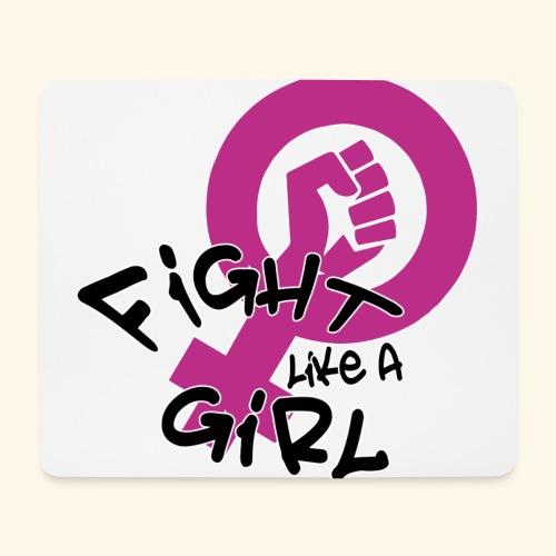 FIGHT LIKE A GIRL - Alfombrilla de ratón (horizontal)