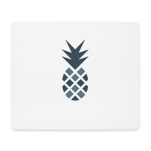 Ananas blau - Mousepad (Querformat)