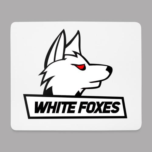 logo white foxes - Tapis de souris (format paysage)