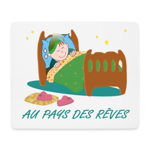 Personnage endormi - Tapis de souris (format paysage)