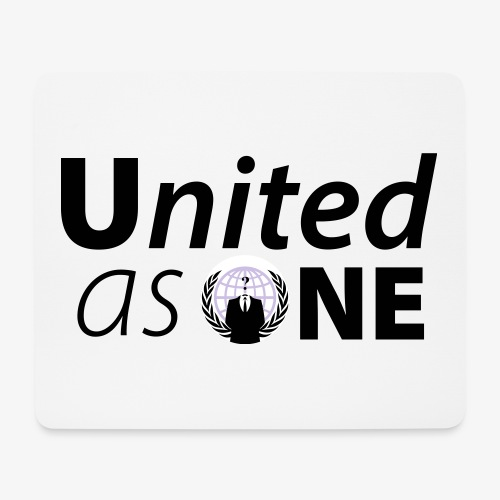 Anonymous United As One - Tapis de souris (format paysage)