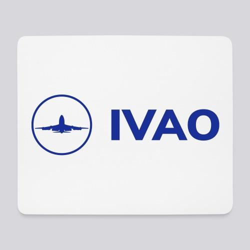 IVAO (Logo bleu complet) - Tapis de souris (format paysage)