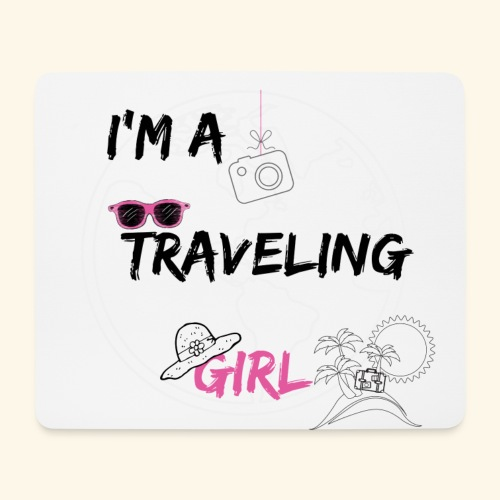 I'm a traveling girl - Tappetino per mouse (orizzontale)