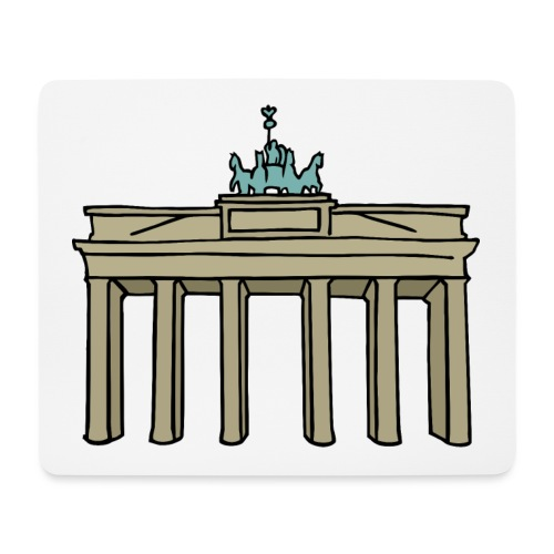 Porte de Brandebourg BERLIN c - Tapis de souris (format paysage)