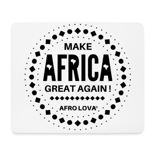 Make Africa Great Again Noir - Tapis de souris (format paysage)