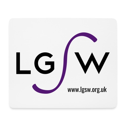 LGSW_large_white - Mouse Pad (horizontal)
