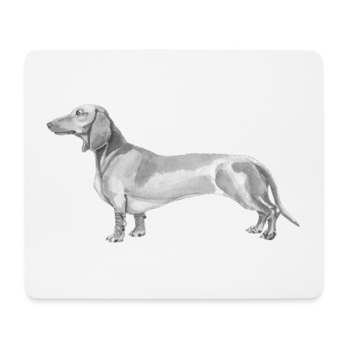 Dachshund smooth haired - Mousepad (bredformat)