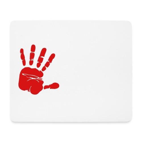 Handabdruck - Mousepad (Querformat)