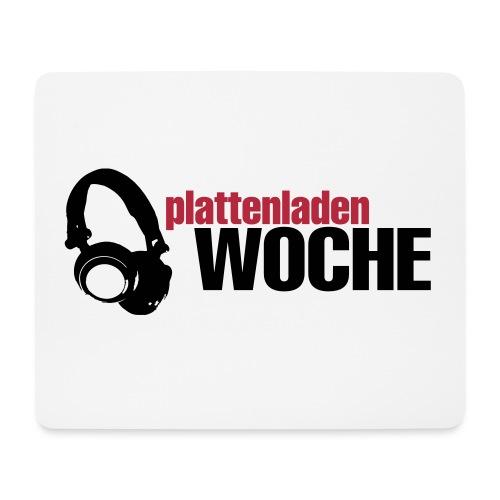 plattenwoche_schwarz_rot - Mousepad (Querformat)