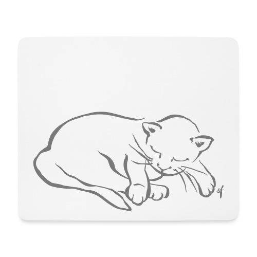 Meine kleine Katze schläft - Mousepad (Querformat)