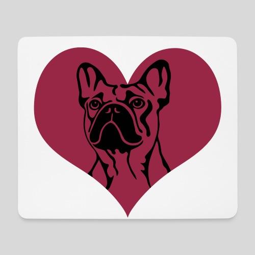 FranzBulldogge im Herz - Mousepad (Querformat)