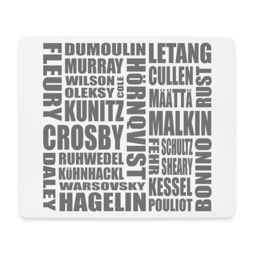 penguins roster - grey - Mouse Pad (horizontal)