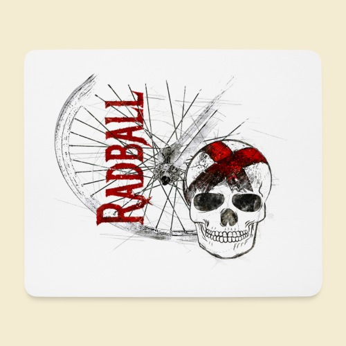 Radball | Cycle Ball Skull - Mousepad (Querformat)