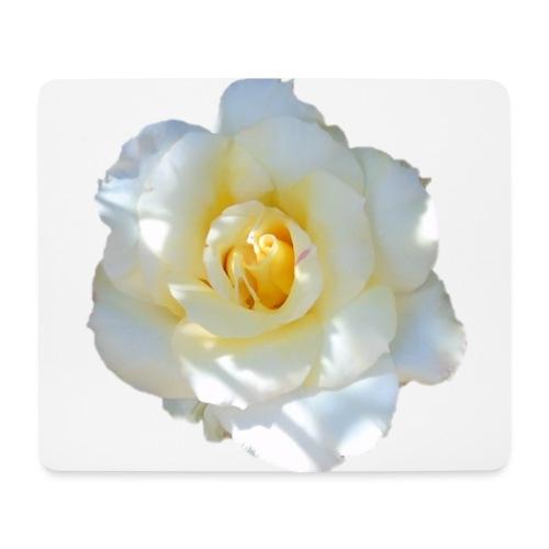 A white rose - Mouse Pad (horizontal)