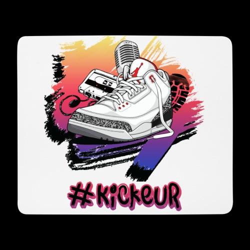 #Kickeur Noir - Tapis de souris (format paysage)