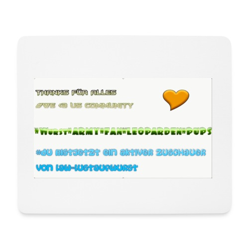 MAUSPAD THANKS FOR 70 subs on YT LUSTAUFWURST - Mousepad (Querformat)