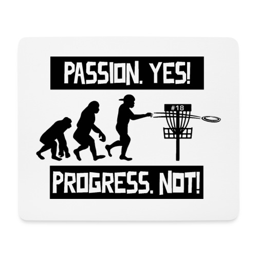 Disc golf - Passion, progress - Black - Hiirimatto (vaakamalli)