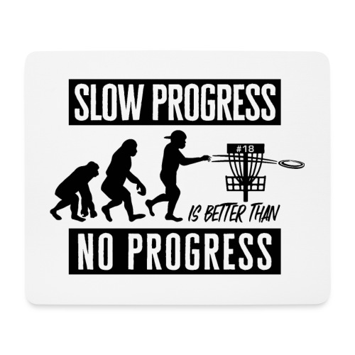 Disc golf - Slow progress - Black - Hiirimatto (vaakamalli)
