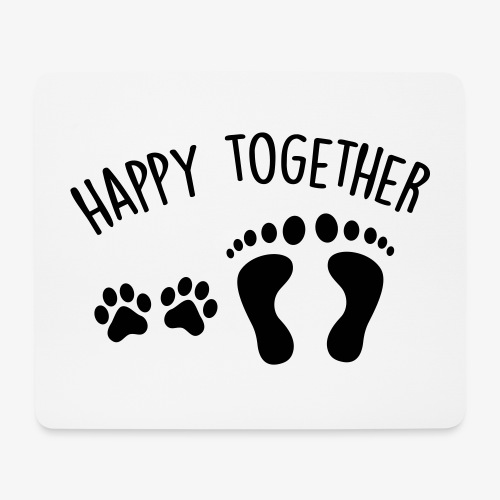 happy together dog - Mousepad (Querformat)