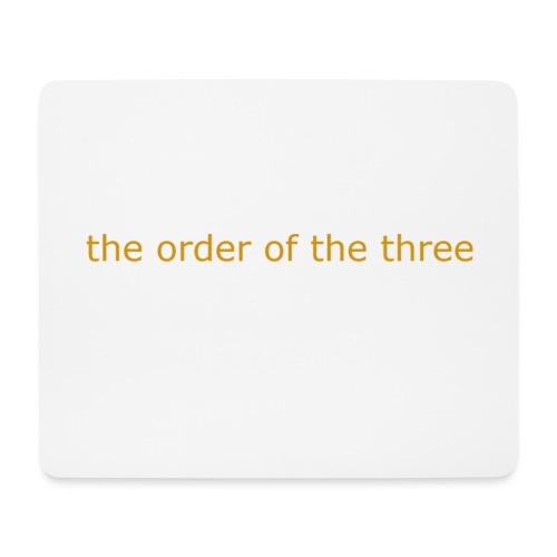 the order of the three 1st shirt - Mouse Pad (horizontal)