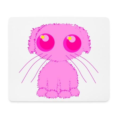lurvig neonrosa kawaii anime doodle hund - Mouse Pad (horizontal)