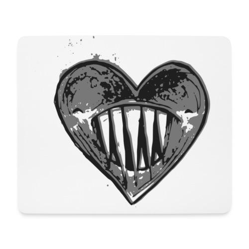 Corazón Negro - Alfombrilla de ratón (horizontal)