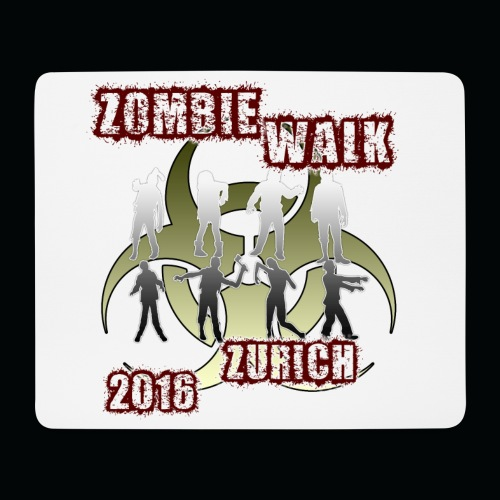 shirt zombie walk1 - Mousepad (Querformat)