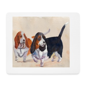 Basset hound_double-trot - Mousepad (bredformat)