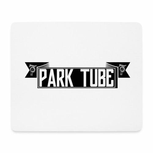 ParkTube Banner schwarz - Mousepad (Querformat)