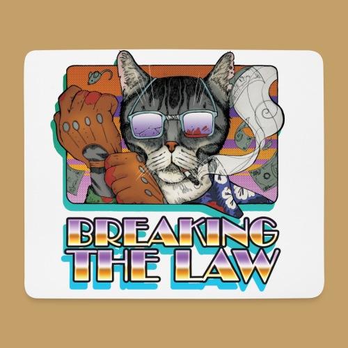 Crime Cat in Shades - Braking the Law - Podkładka pod myszkę (orientacja pozioma)
