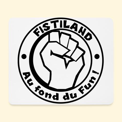 logo Fistiland Noir - Tapis de souris (format paysage)
