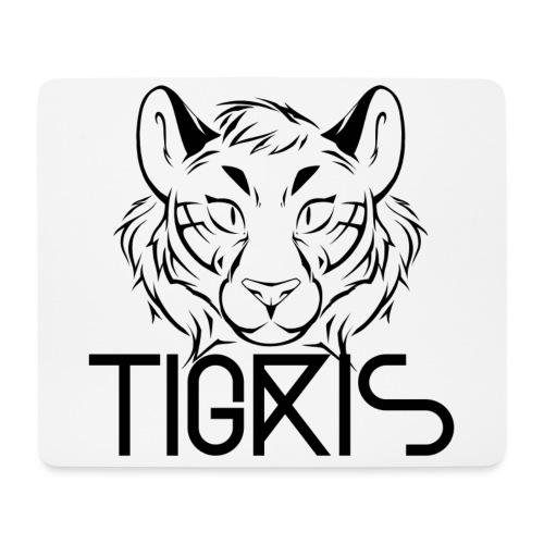 Tigris Logo Picture Text Black - Mouse Pad (horizontal)