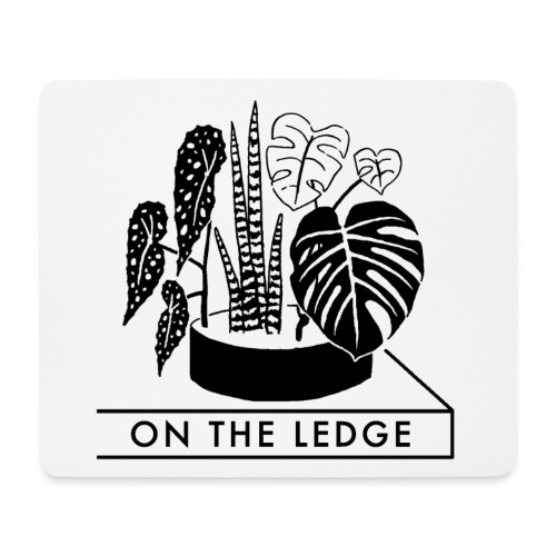 On The Ledge black and white logo - Mouse Pad (horizontal)