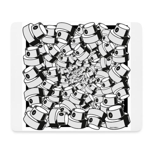 geometric graffiti fap caps square print ver 0.1. - Mousepad (bredformat)
