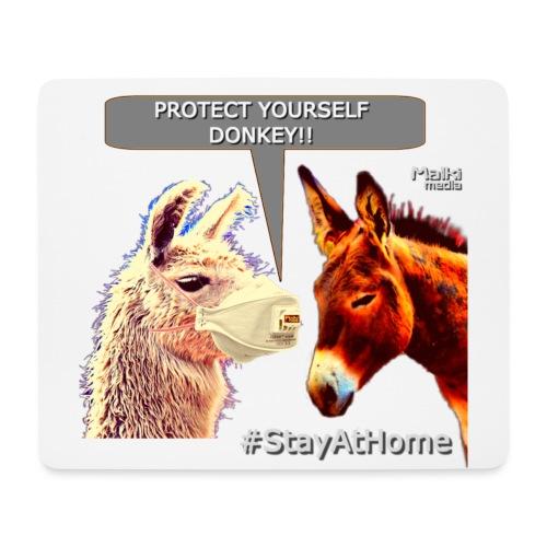 Protect Yourself Donkey - Coronavirus - Tapis de souris (format paysage)