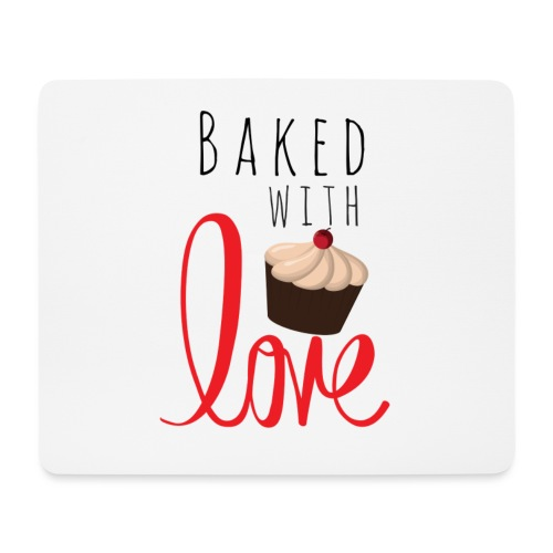 Baked with love - Mouse Pad (horizontal)