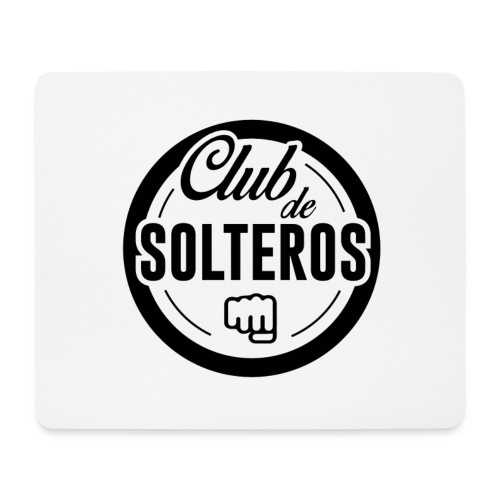 Club de Solteros (logo negro) - Alfombrilla de ratón (horizontal)