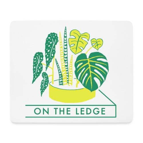 On The Ledge green logo print - Mouse Pad (horizontal)