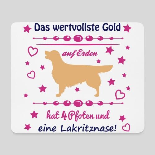 Golden, das wertvollste Gold - Mousepad (Querformat)