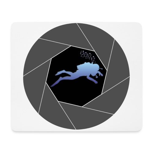 Taucher in Blende - Mousepad (Querformat)