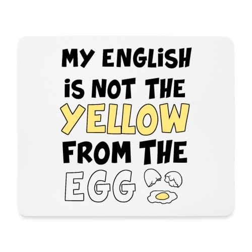 Schlechtes Englisch Witz Typografie - Mousepad (Querformat)